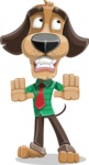 Business Dog Cartoon Vector Character AKA Donny - Stop