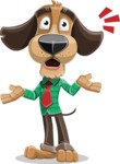 Business Dog Cartoon Vector Character AKA Donny - Shocked