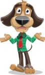 Business Dog Cartoon Vector Character AKA Donny - Confused