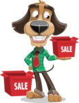 Business Dog Cartoon Vector Character AKA Donny - Sale