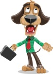 Business Dog Cartoon Vector Character AKA Donny - Briefcase 1