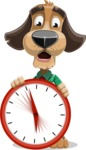 Business Dog Cartoon Vector Character AKA Donny - Time is Yours