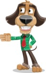 Business Dog Cartoon Vector Character AKA Donny - Show