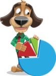 Business Dog Cartoon Vector Character AKA Donny - Chart