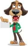 Business Dog Cartoon Vector Character AKA Donny - Sign 1