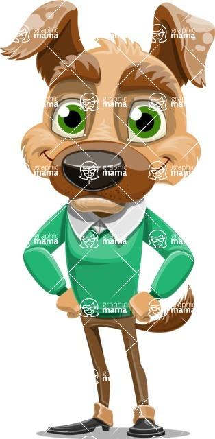 Dog With Clothes Cartoon Vector Character AKA Woofgang Dog - Normal