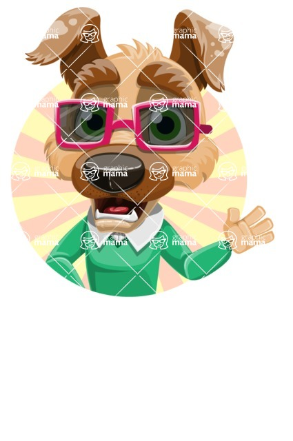 Dog With Clothes Cartoon Vector Character AKA Woofgang Dog - Shape 2