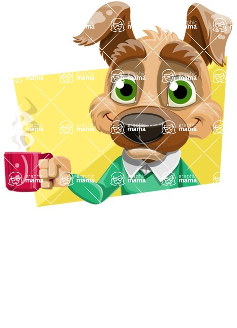 Dog With Clothes Cartoon Vector Character AKA Woofgang Dog - Shape 4