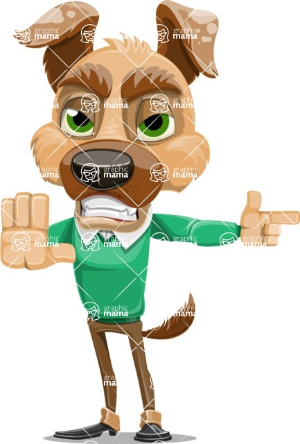 Dog With Clothes Cartoon Vector Character AKA Woofgang Dog - DirectAttention 2