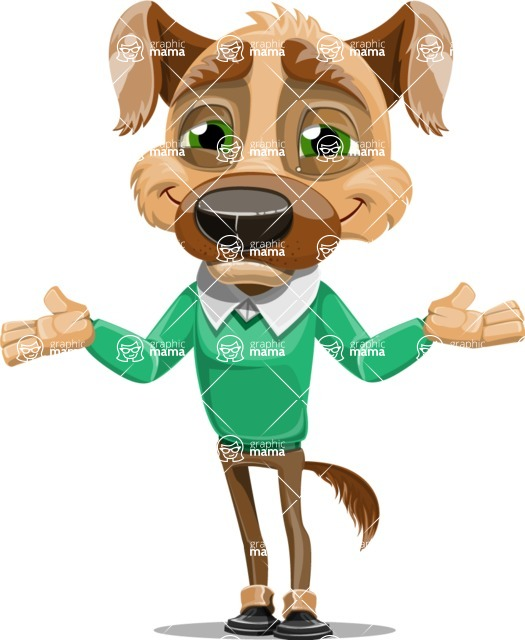 Dog With Clothes Cartoon Vector Character AKA Woofgang Dog - Sorry