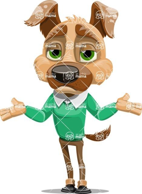 Dog With Clothes Cartoon Vector Character AKA Woofgang Dog - Lost