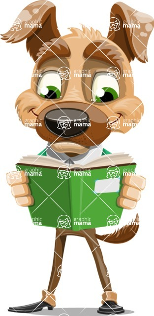 Dog With Clothes Cartoon Vector Character AKA Woofgang Dog - Book 1
