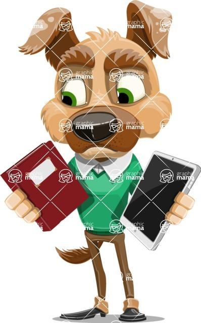 Dog With Clothes Cartoon Vector Character AKA Woofgang Dog - Book and iPad