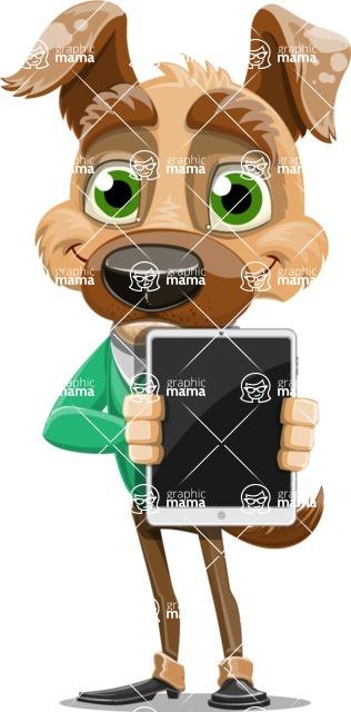 Dog With Clothes Cartoon Vector Character AKA Woofgang Dog - iPad 1