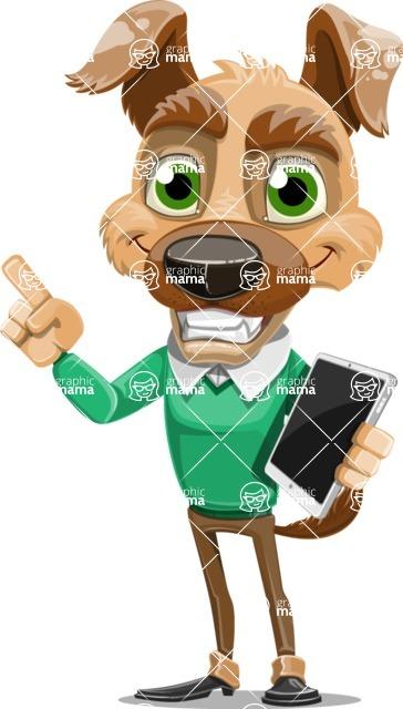 Dog With Clothes Cartoon Vector Character AKA Woofgang Dog - iPad 3