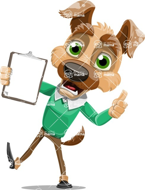 Dog With Clothes Cartoon Vector Character AKA Woofgang Dog - Notepad 1