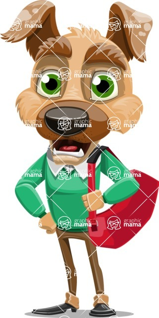 Dog With Clothes Cartoon Vector Character AKA Woofgang Dog - Travel 2
