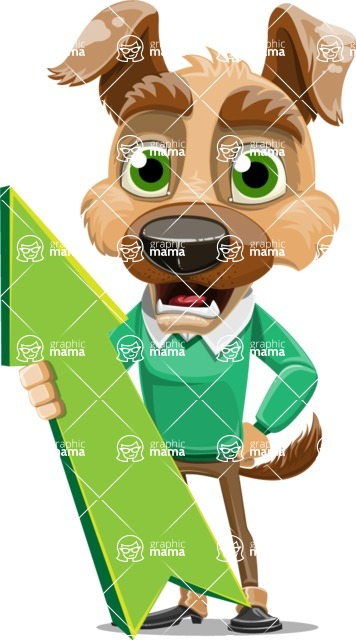Dog With Clothes Cartoon Vector Character AKA Woofgang Dog - Pointer 1