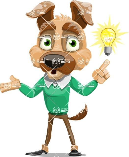 Dog With Clothes Cartoon Vector Character AKA Woofgang Dog - Idea 2