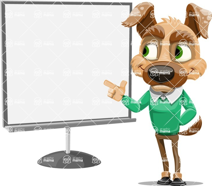 Dog With Clothes Cartoon Vector Character AKA Woofgang Dog - Presentation 2