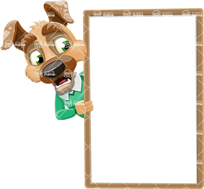 Dog With Clothes Cartoon Vector Character AKA Woofgang Dog - Presentation 4