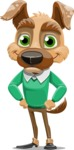 Dog With Clothes Cartoon Vector Character AKA Woofgang Dog - Normal