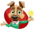 Dog With Clothes Cartoon Vector Character AKA Woofgang Dog - Shape 1