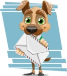 Dog With Clothes Cartoon Vector Character AKA Woofgang Dog - Shape 8