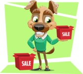 Dog With Clothes Cartoon Vector Character AKA Woofgang Dog - Shape 12