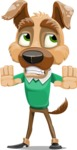 Dog With Clothes Cartoon Vector Character AKA Woofgang Dog - Stop