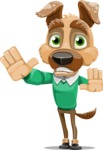 Dog With Clothes Cartoon Vector Character AKA Woofgang Dog - Stop 2