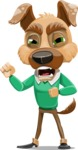 Dog With Clothes Cartoon Vector Character AKA Woofgang Dog - Angry