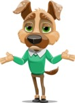 Dog With Clothes Cartoon Vector Character AKA Woofgang Dog - Lost