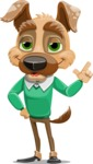 Dog With Clothes Cartoon Vector Character AKA Woofgang Dog - Silly Face