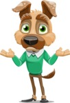 Dog With Clothes Cartoon Vector Character AKA Woofgang Dog - Confused