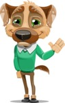 Dog With Clothes Cartoon Vector Character AKA Woofgang Dog - GoodBye