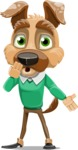 Dog With Clothes Cartoon Vector Character AKA Woofgang Dog - Oops