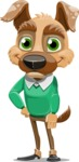 Dog With Clothes Cartoon Vector Character AKA Woofgang Dog - Patient