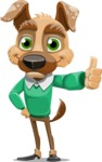 Dog With Clothes Cartoon Vector Character AKA Woofgang Dog - Thumbs Up
