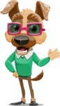 Dog With Clothes Cartoon Vector Character AKA Woofgang Dog - Sunglasses