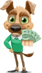 Dog With Clothes Cartoon Vector Character AKA Woofgang Dog - Show me the Money