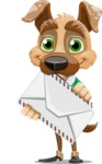 Dog With Clothes Cartoon Vector Character AKA Woofgang Dog - Letter