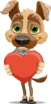 Dog With Clothes Cartoon Vector Character AKA Woofgang Dog - Love