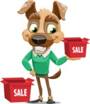 Dog With Clothes Cartoon Vector Character AKA Woofgang Dog - Sale