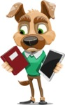 Dog With Clothes Cartoon Vector Character AKA Woofgang Dog - Book and iPad