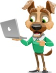 Dog With Clothes Cartoon Vector Character AKA Woofgang Dog - Laptop 1