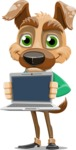 Dog With Clothes Cartoon Vector Character AKA Woofgang Dog - Laptop 2