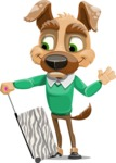 Dog With Clothes Cartoon Vector Character AKA Woofgang Dog - Travel 1