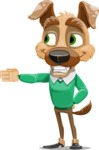 Dog With Clothes Cartoon Vector Character AKA Woofgang Dog - Show