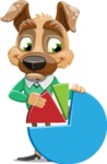 Dog With Clothes Cartoon Vector Character AKA Woofgang Dog - Chart